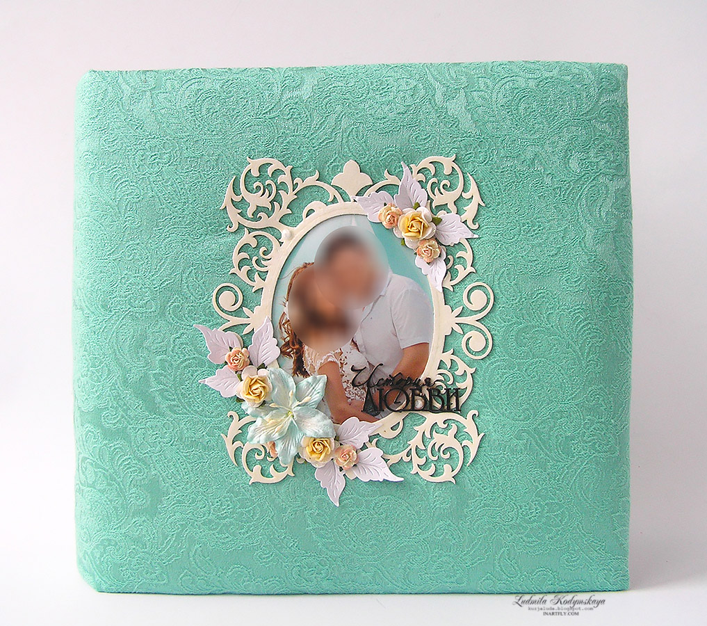 Mint-turquoise wedding album